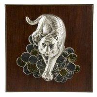 Astra Argenti Плакетка большая Тигр на монетах