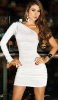 AM:PM Белое платье со сборкой (M)